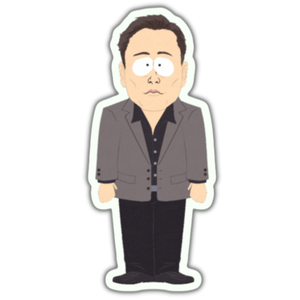 elon musk icon sticker transparent png