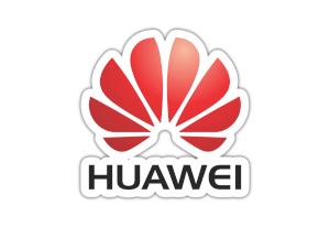 Huawei logo-red lettering color black