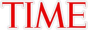 Time Logo red letters