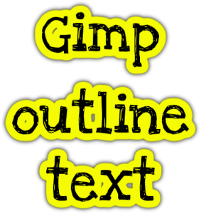 Gimp outline text