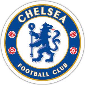 Chelsea Logo blue and white with red and yellow