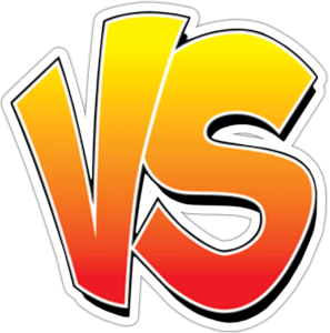 VS logo red and yellow and orange