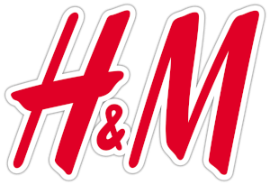 H&M logo red letters