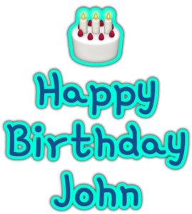 🎂 Happy Birthday John