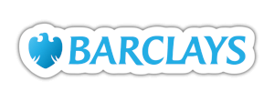 Barclays logo blue and white