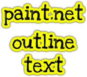 paint.net outline text