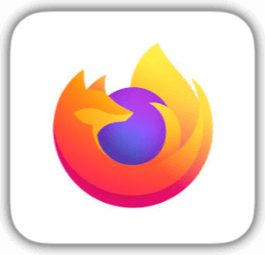 Mozilla logo fox of fire