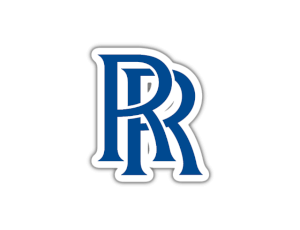 Rolls Royce logo blue and white