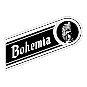 Bohemia logo with white borders and white letters