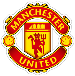 Manchester United logo color yellow and red