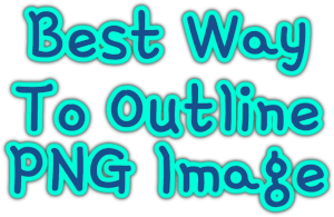 Best Way To Outline PNG Image