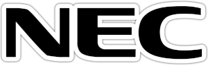 Nec logo black and white