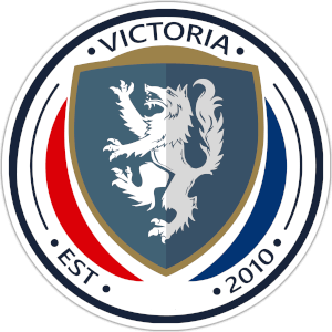 Victoria Est 2010 logo color blue red and grey