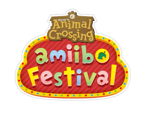 Amiibo festival logo red background letter color