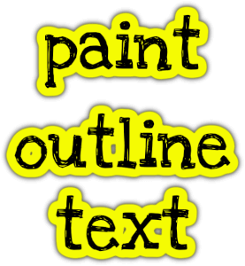 paint outline text