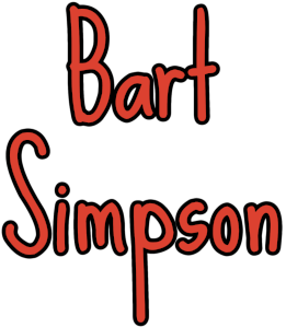 bart simpson lowercase