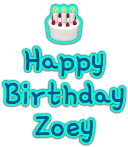 🎂 Happy Birthday Zoey