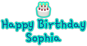 🎂 Happy Birthday Sophia